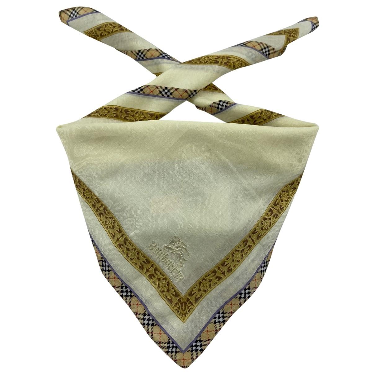 Burberry \N Schal in  Beige Baumwolle