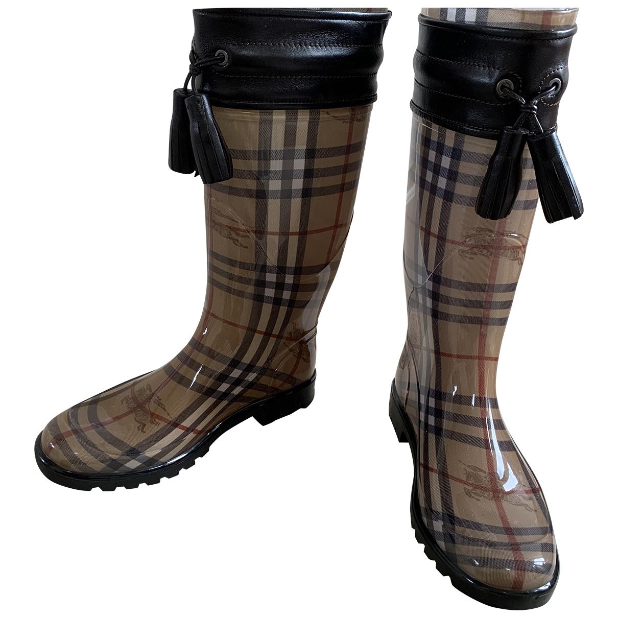 Burberry \N Stiefel in  Beige Kunststoff
