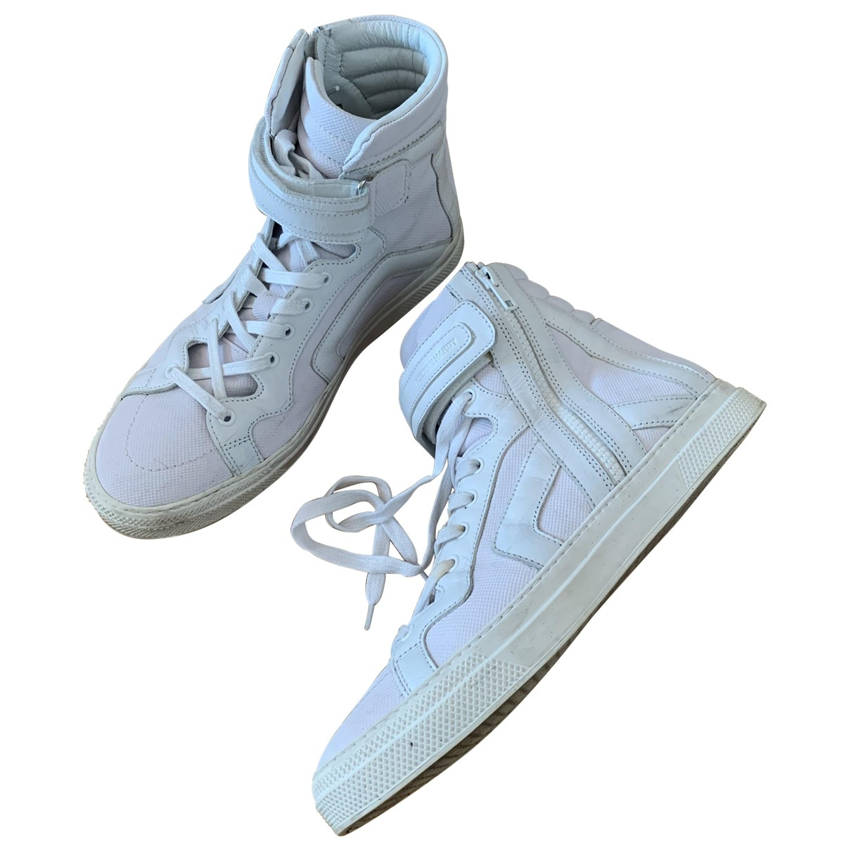 Pierre Hardy \N White Cloth Trainers for Men 43 EU