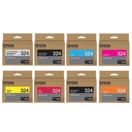 Epson T324 Original Ink Cartridge Combo GO/PBK/MBK/C/M/Y/R/O