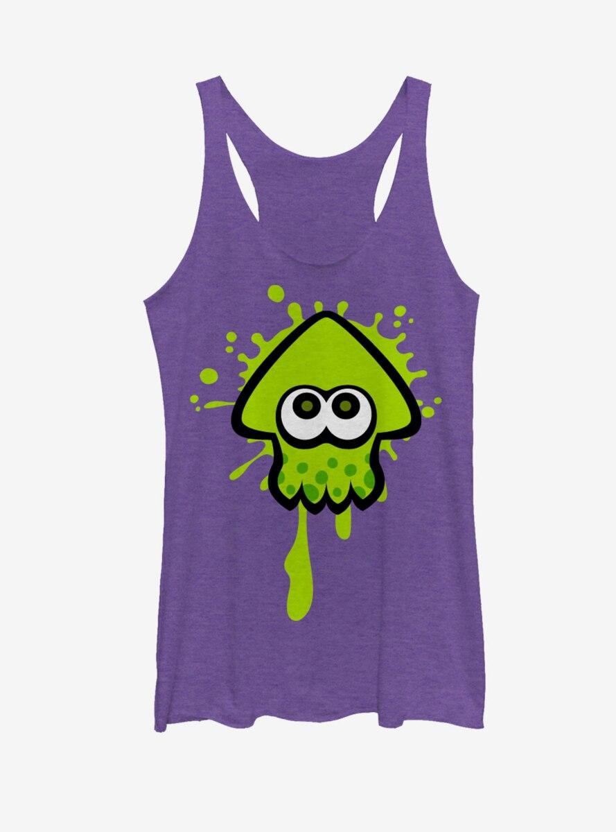 Nintendo Splatoon Lime Green Inkling Squid Womens Tank Top