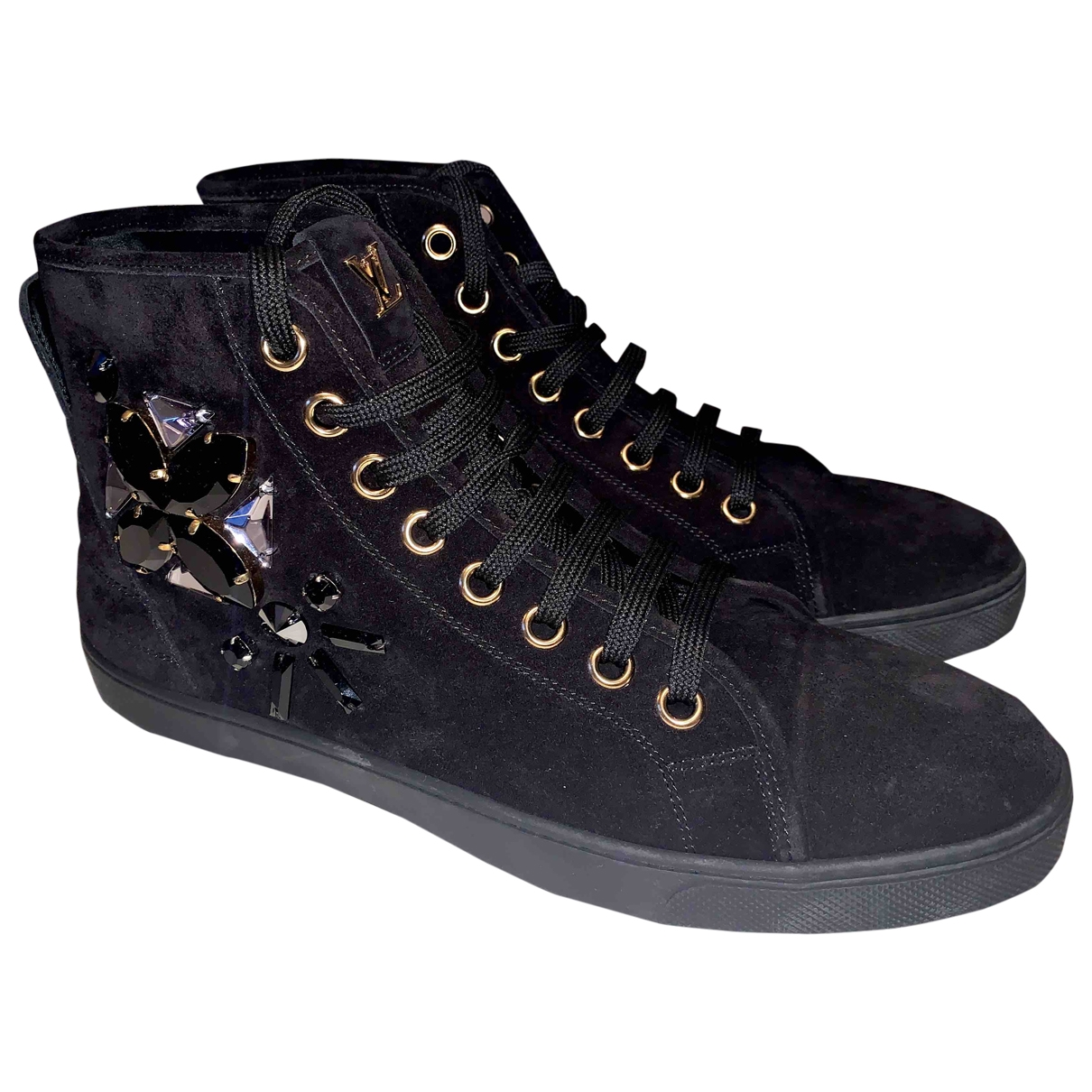 Louis Vuitton \N Black Suede Trainers for Women 40 EU
