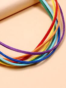 Rainbow Striped Design Choker