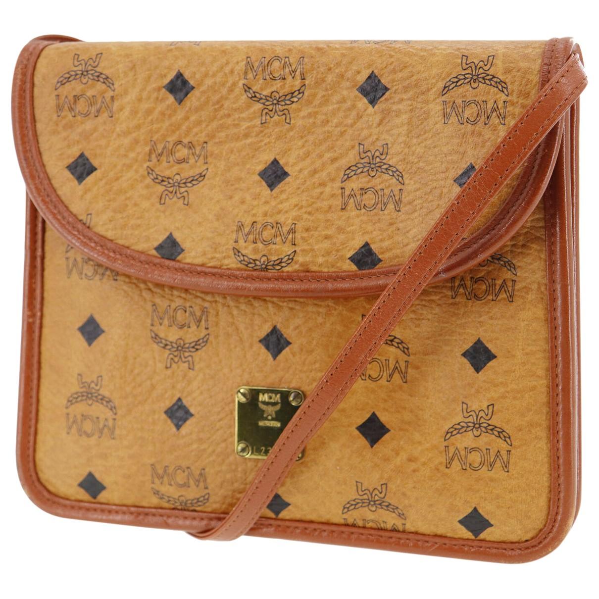 Mcm \N Handtasche in  Braun Leinen