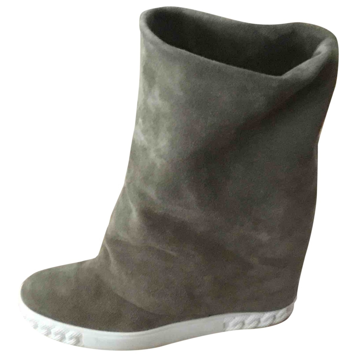 Casadei \N Khaki Leather Boots for Women 37 EU