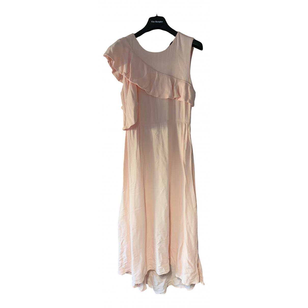 Maje \N Kleid in  Rosa Viskose