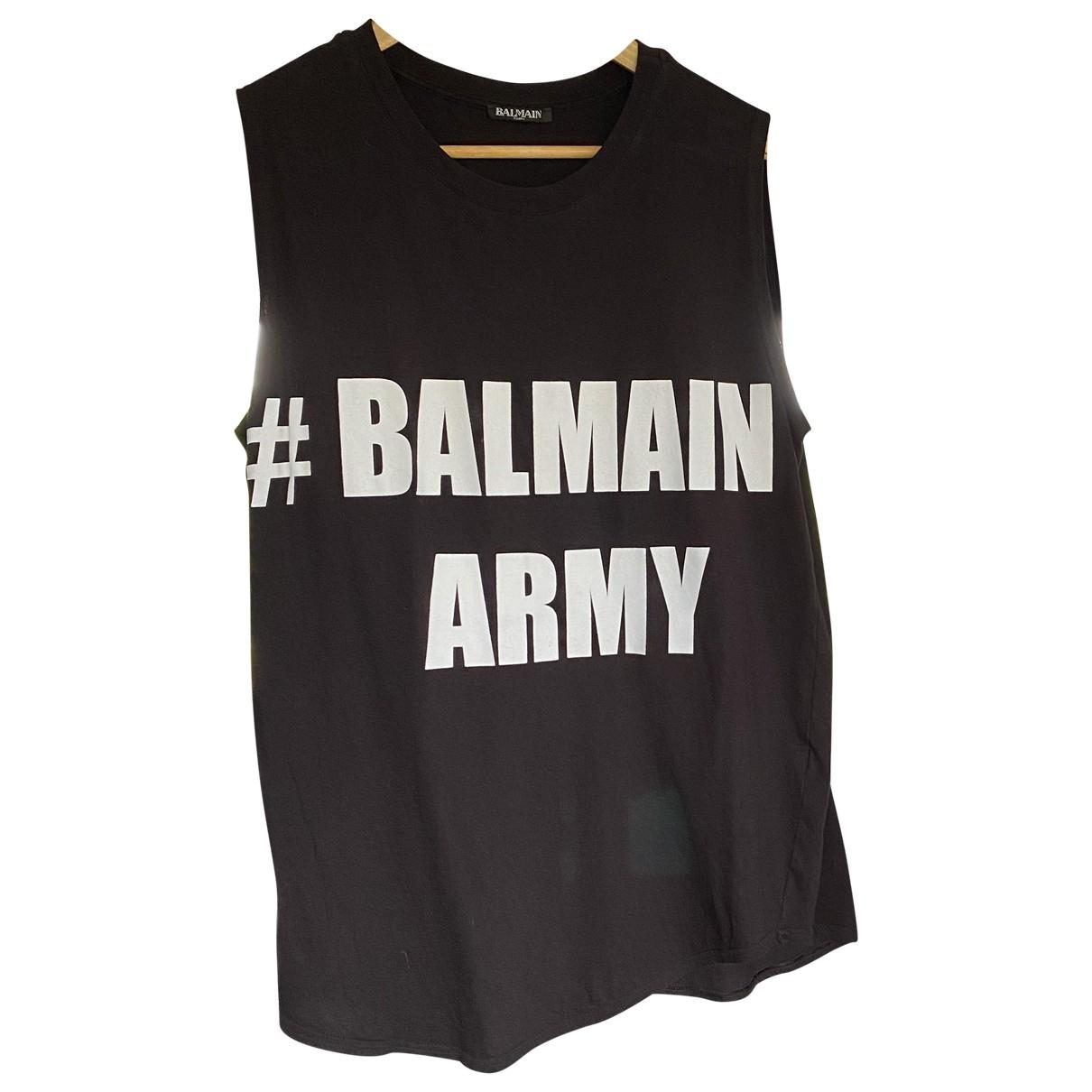 Balmain \N Black Cotton  top for Women 36 FR