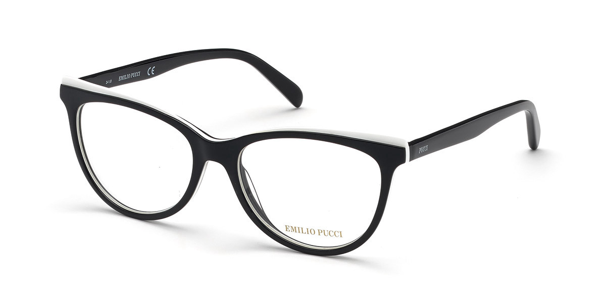 Emilio Pucci EP5099 005 Women's Glasses  Size 53 - Free Lenses - HSA/FSA Insurance - Blue Light Block Available