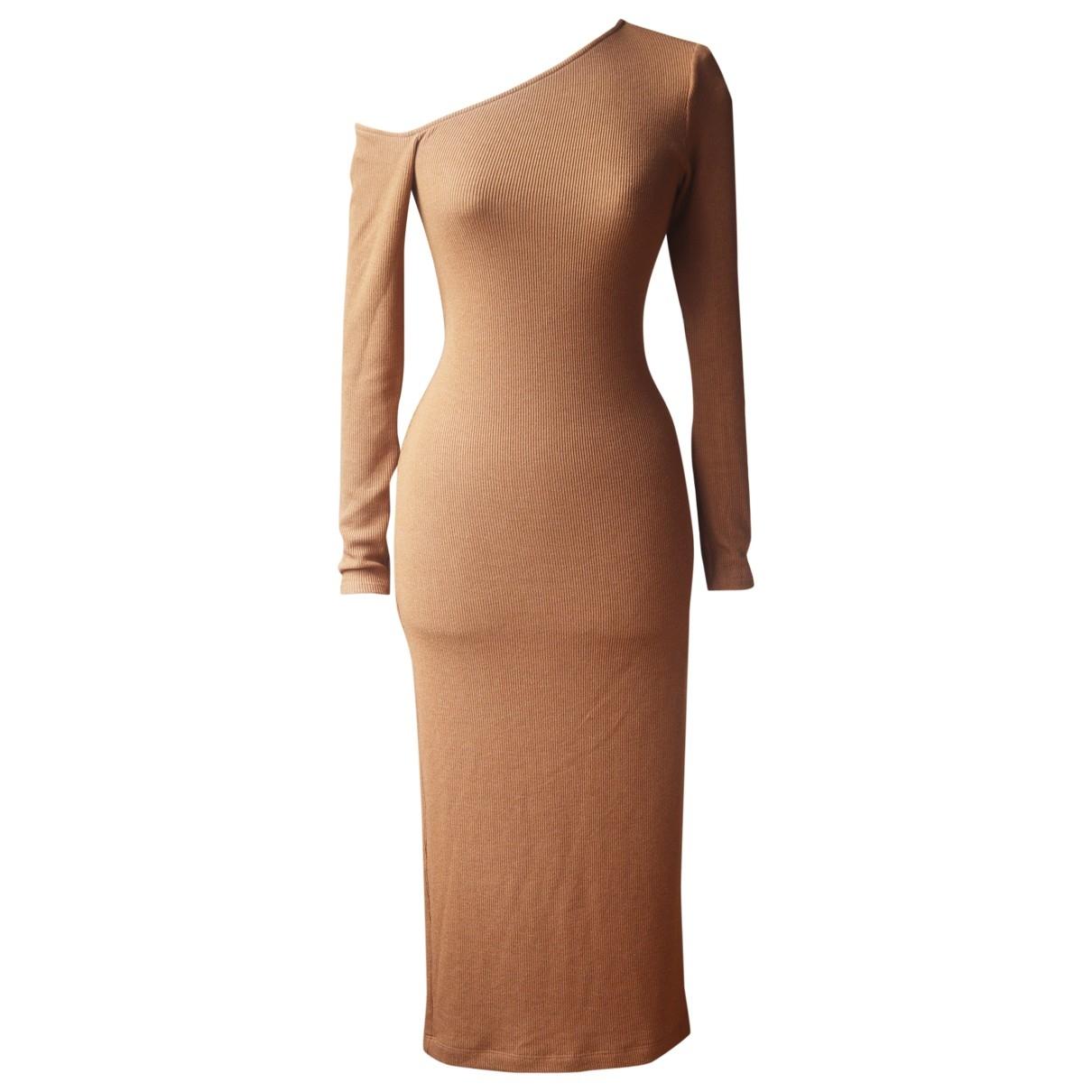 Enza Costa \N Kleid in  Braun Polyester