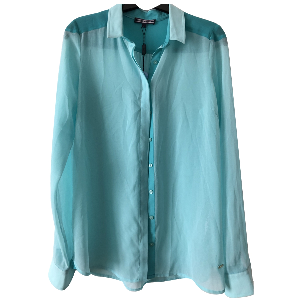 Tommy Hilfiger - Top   pour femme - turquoise