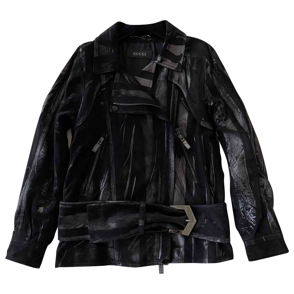 Gucci \N Black Suede Leather jacket for Women 42 IT