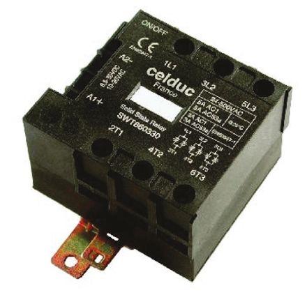 Celduc 5 A Solid State Relay, Zero Crossing, DIN Rail, 520 V ac Maximum Load
