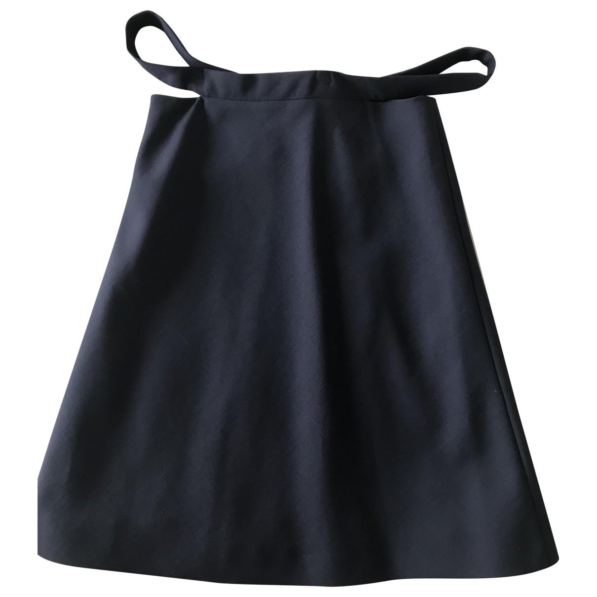 Balenciaga \N Navy Wool skirt for Women 38 FR