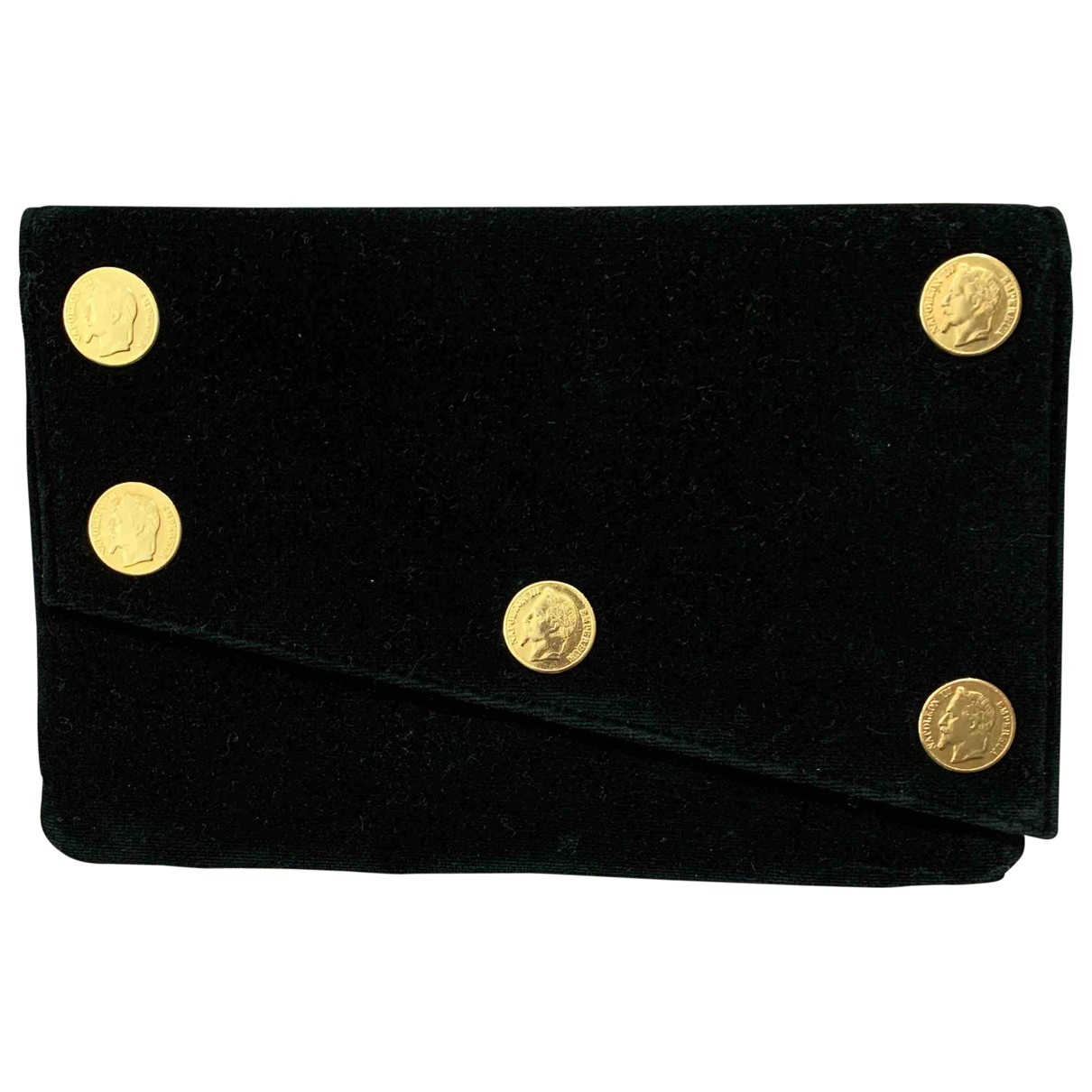 Non Signé / Unsigned \N Black Velvet Clutch bag for Women \N