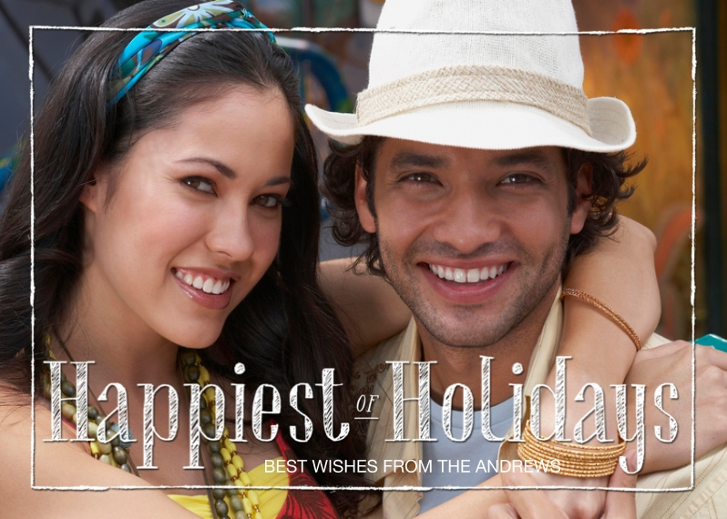 Holiday Photo Cards 5x7 Cards, Premium Cardstock 120lb, Card & Stationery -Scribbles of Merry