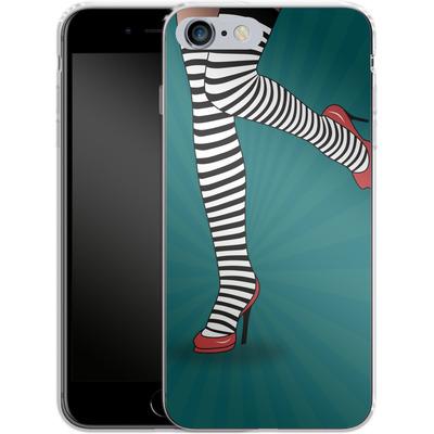 Apple iPhone 6 Plus Silikon Handyhuelle - Stripy Tights von Mark Ashkenazi