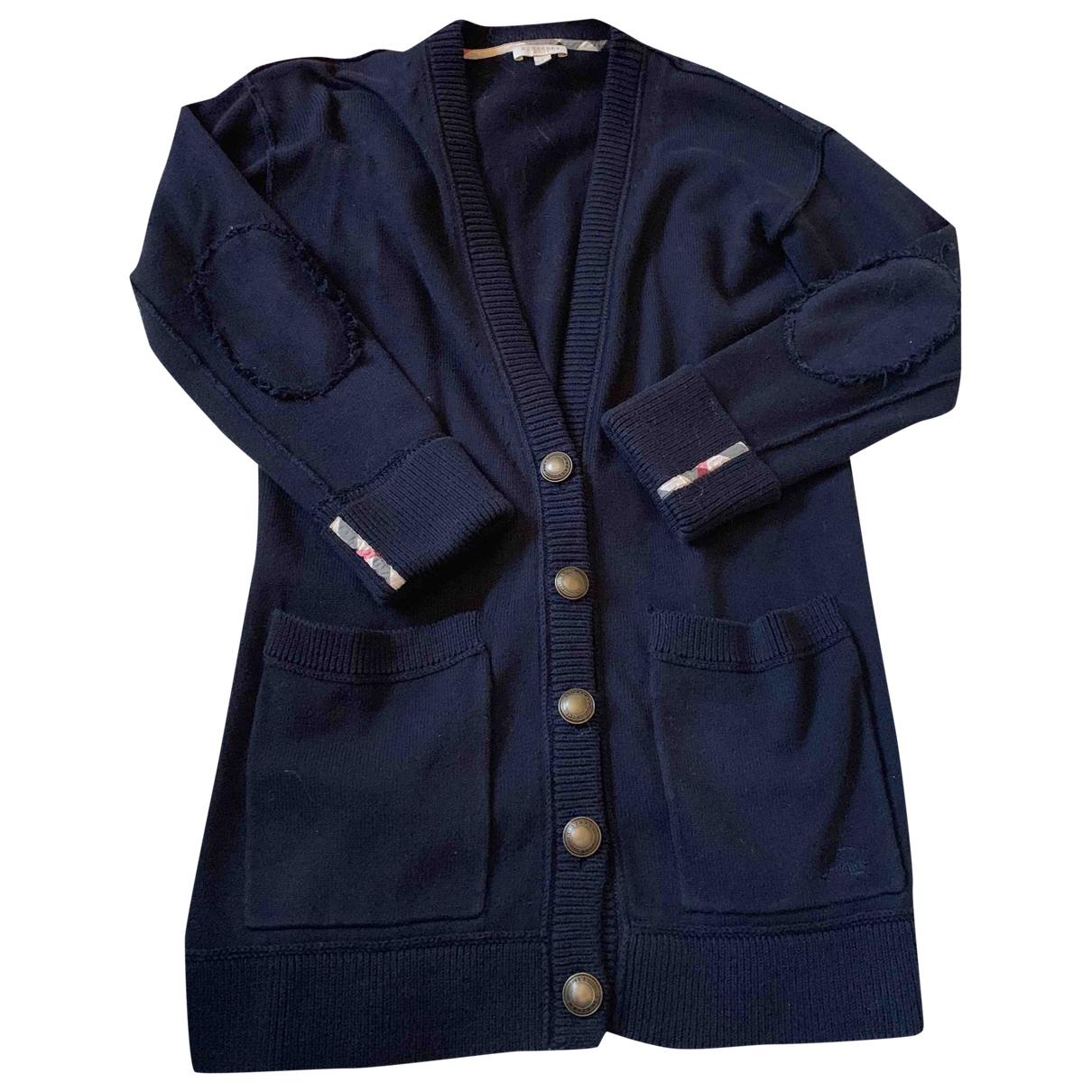 Burberry - Pull   pour femme en coton - bleu