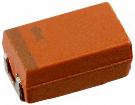 AVX 100μF Niobium Capacitor 6.3V dc ±20% Surface Mount 6mm NOJ Series (500)