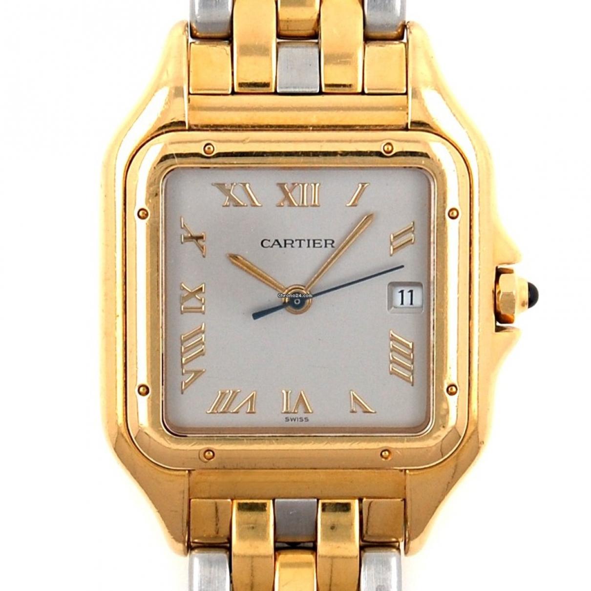 Cartier Panthere Uhr in  Gold Gold und Stahl