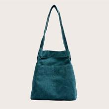 Pocket Font Shoulder Bag