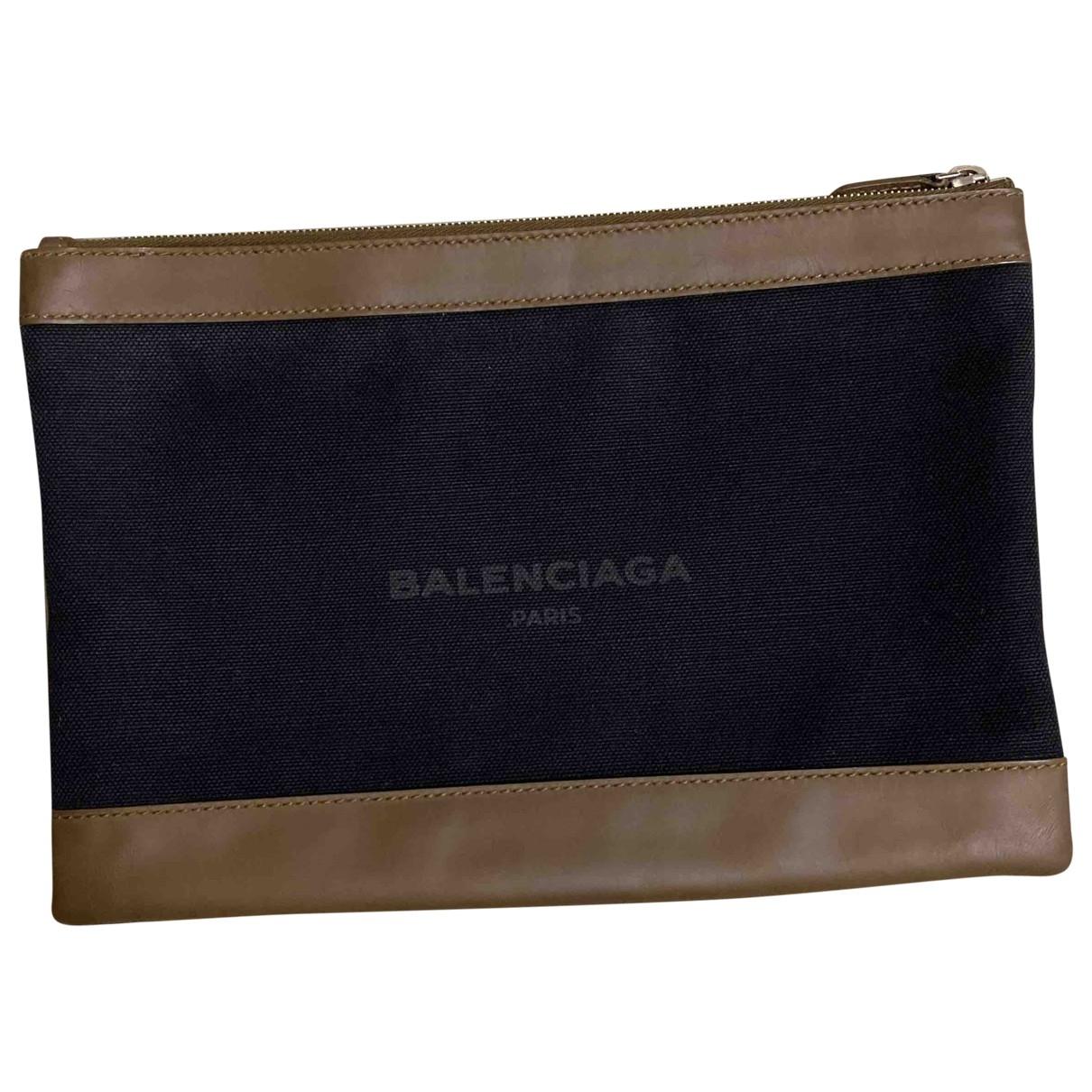 Balenciaga - Petite maroquinerie   pour homme en toile - noir