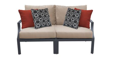 Lexington LEXINGTON-02a-WHEAT 2-Piece Aluminum Patio Set 02a with Left Arm Chair and Right Arm Chair - Ash and Wheat