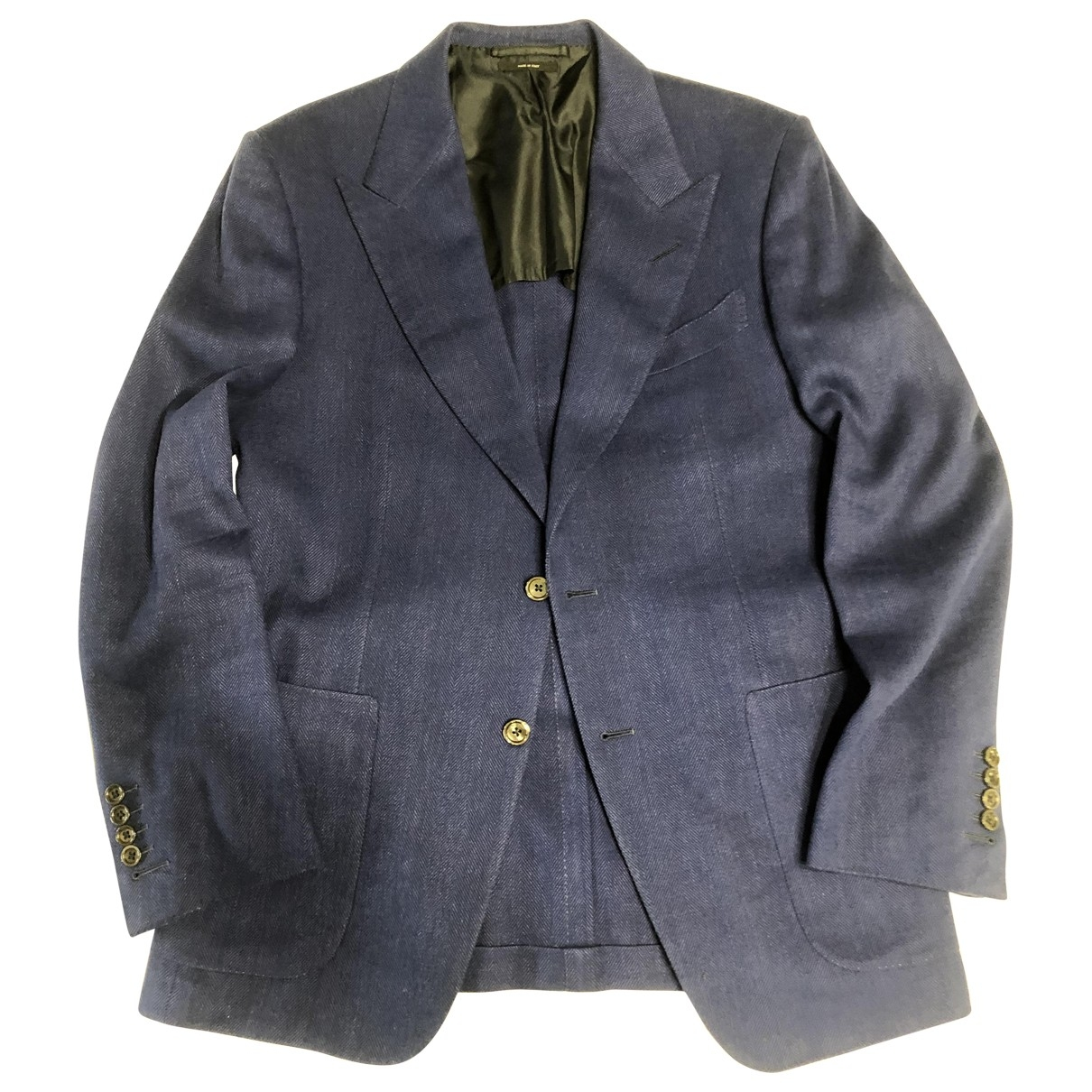 Tom Ford \N Blue Wool jacket  for Men 48 FR
