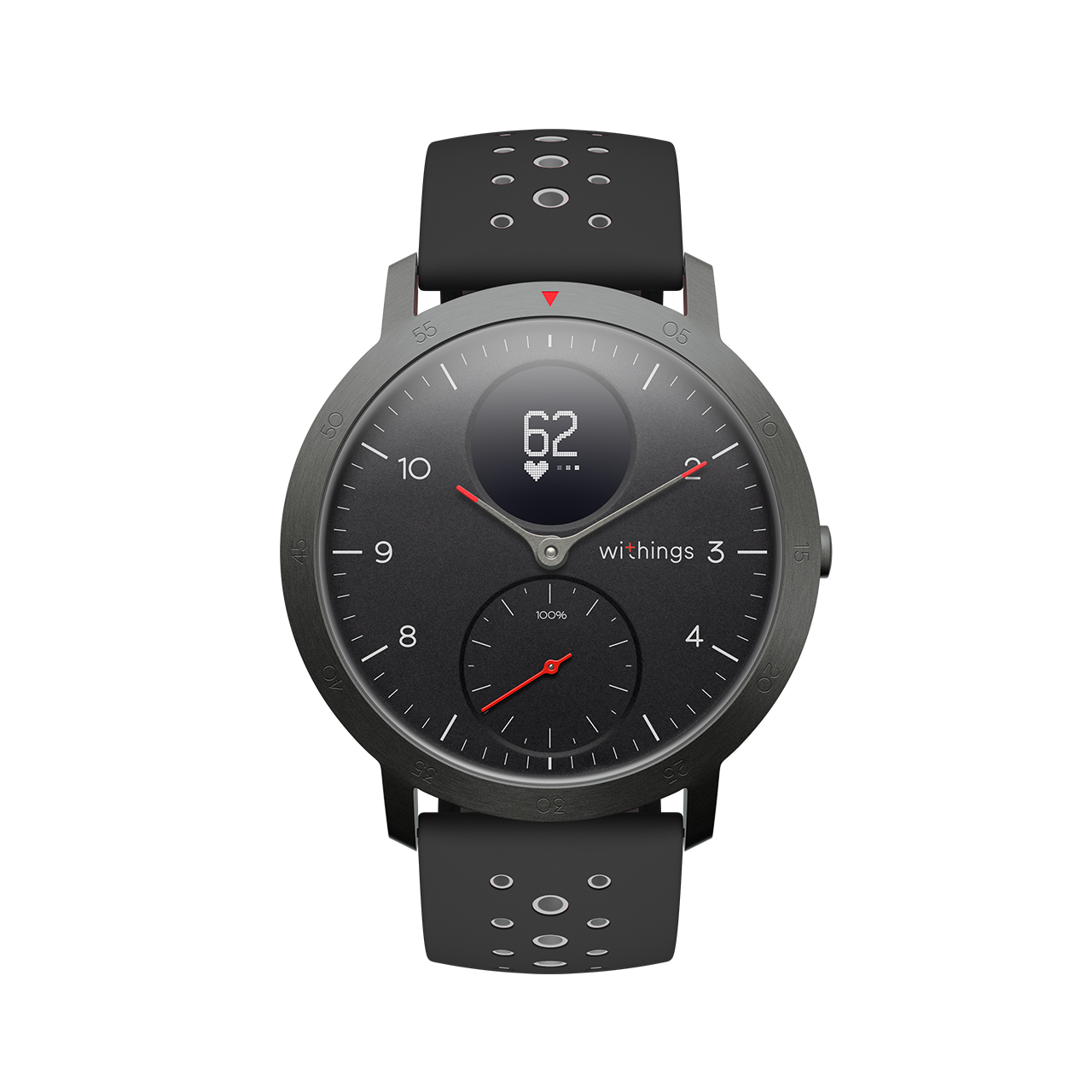 Withings Steel HR Sport, Noir - Montre connectee hybride multisport - Rythme cardiaque, Notifications - Boutique Officielle Withings