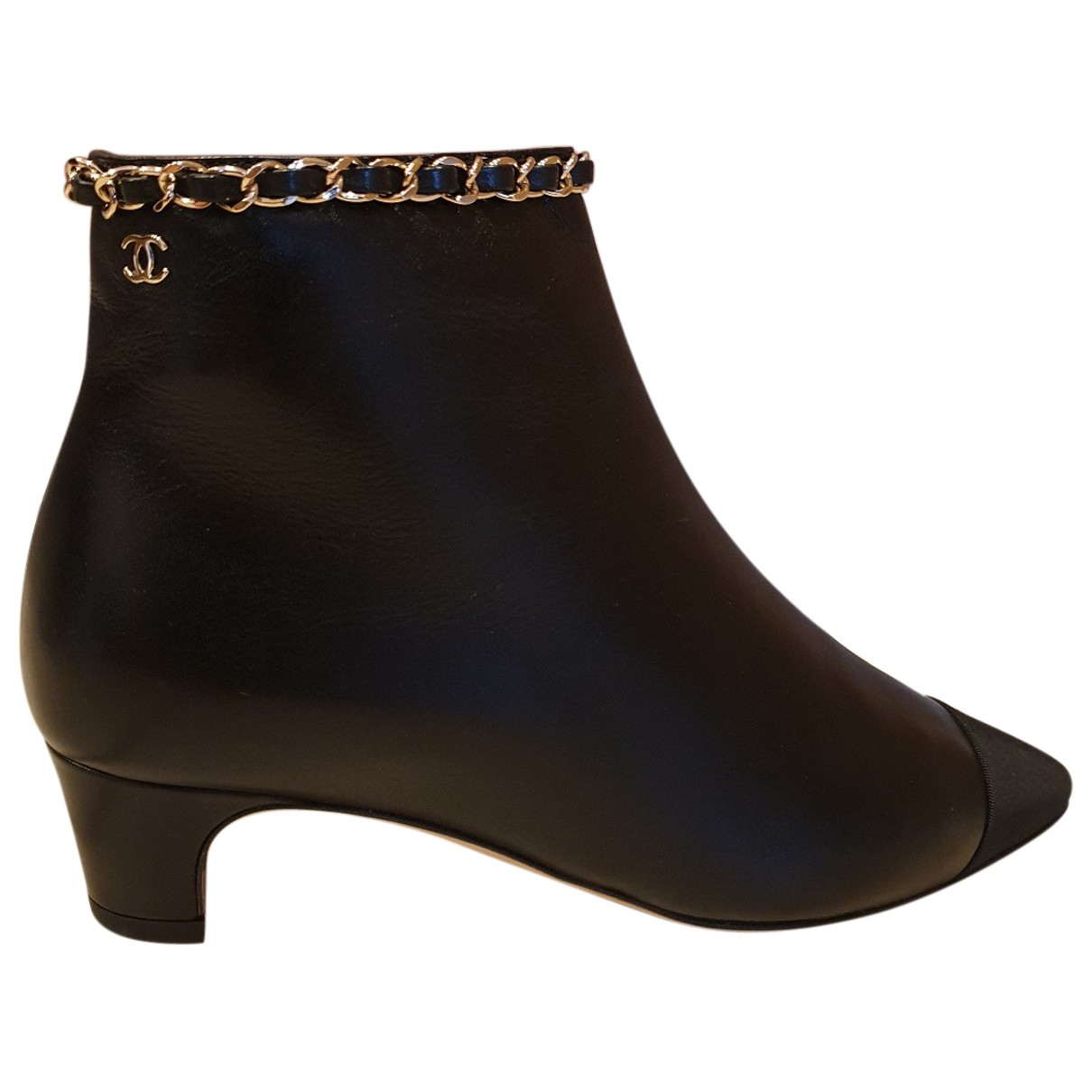 Chanel N Black Leather Boots for Women 35 IT