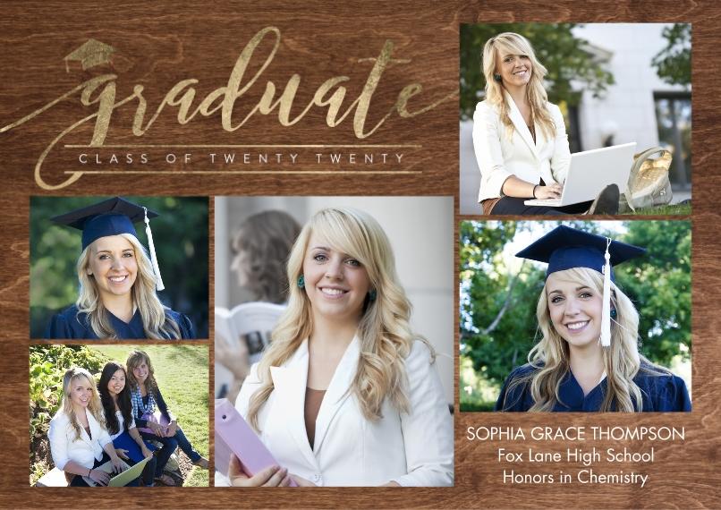 2020 Graduation Announcements 5x7 Cards, Premium Cardstock 120lb, Card & Stationery -Graduate Twenty Twenty by Tumbalina