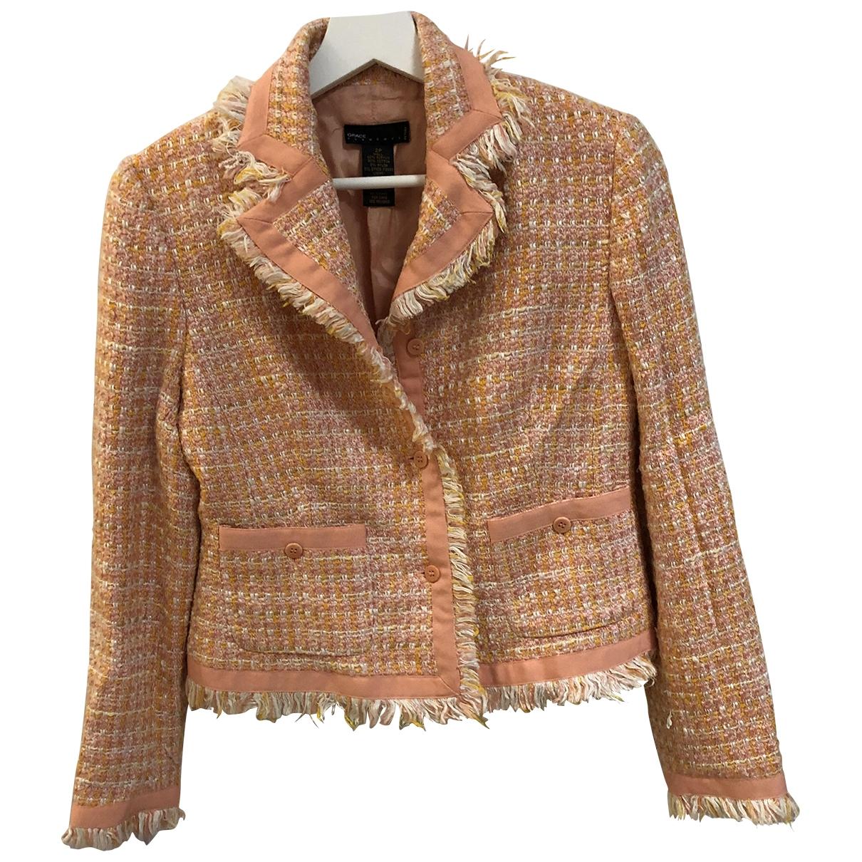 - Manteau   pour femme en laine - orange