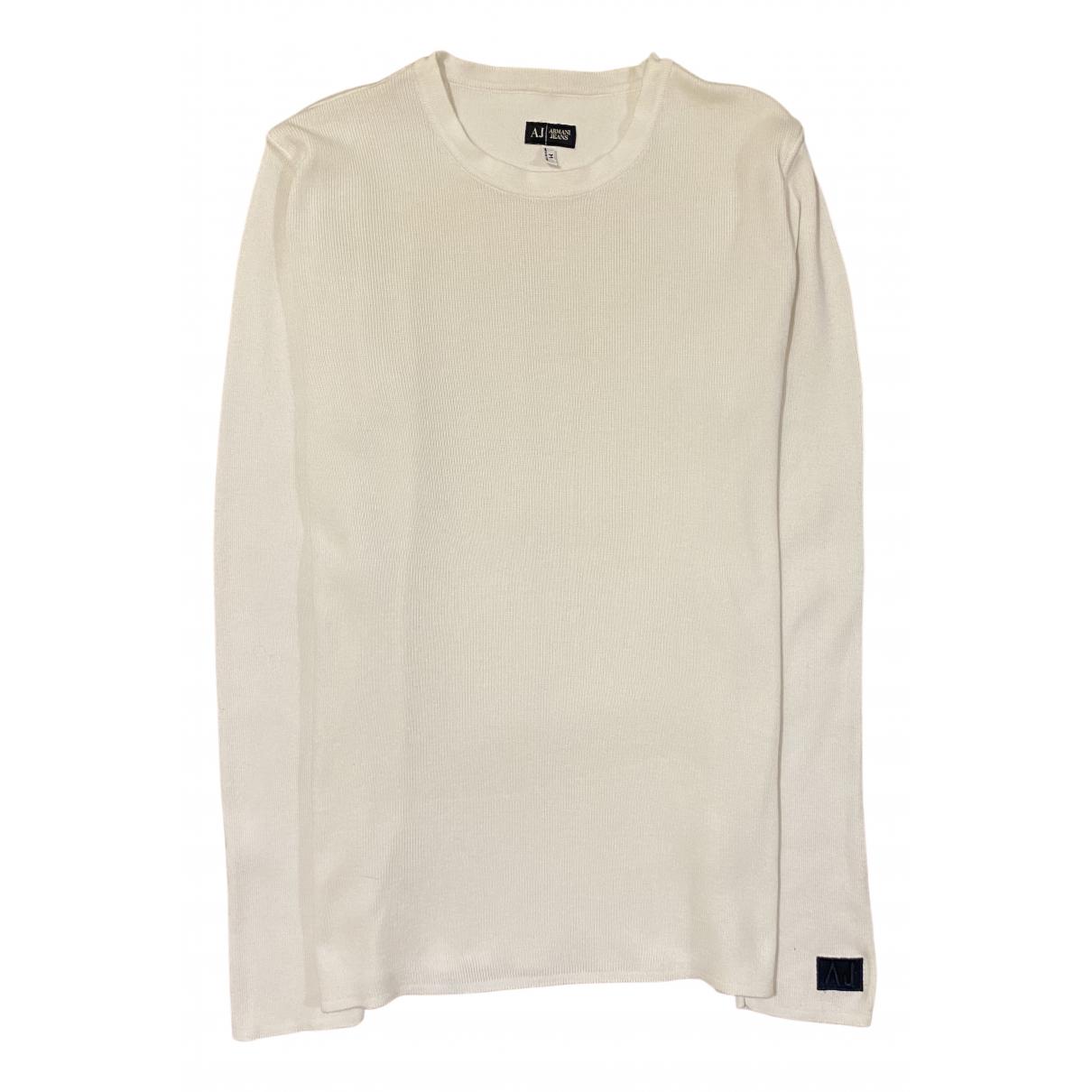 Armani Jeans \N Pullover.Westen.Sweatshirts  in  Weiss Baumwolle