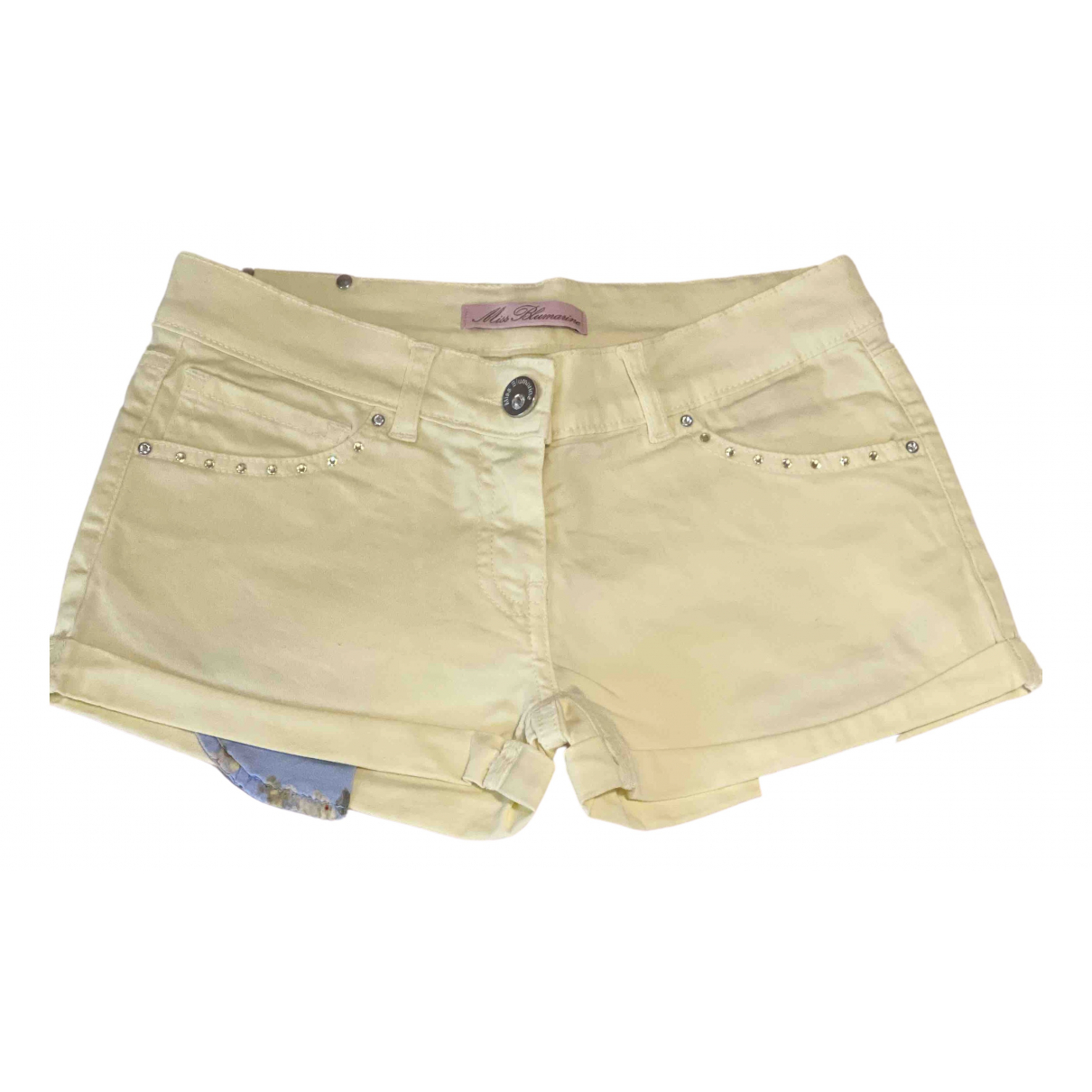 Blumarine \N Yellow Cotton Shorts for Kids 8 years - up to 128cm FR