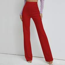 High Waist Straight Leg Pants