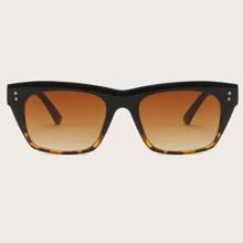 Gafas de sol de hombres de marco acrilico con diseño de tornillo con carey