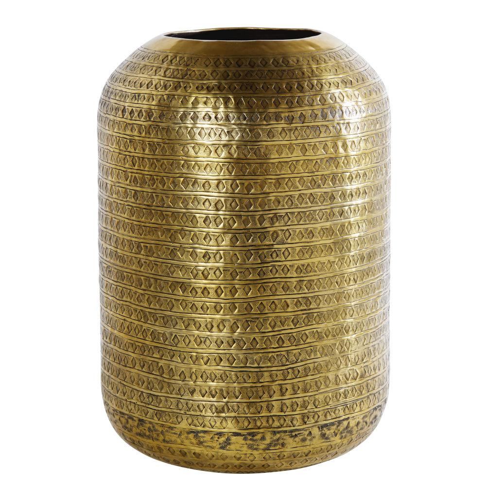 Dreifuss-Lampe aus gehaemmertem Metall, bronzefarben und schwarz