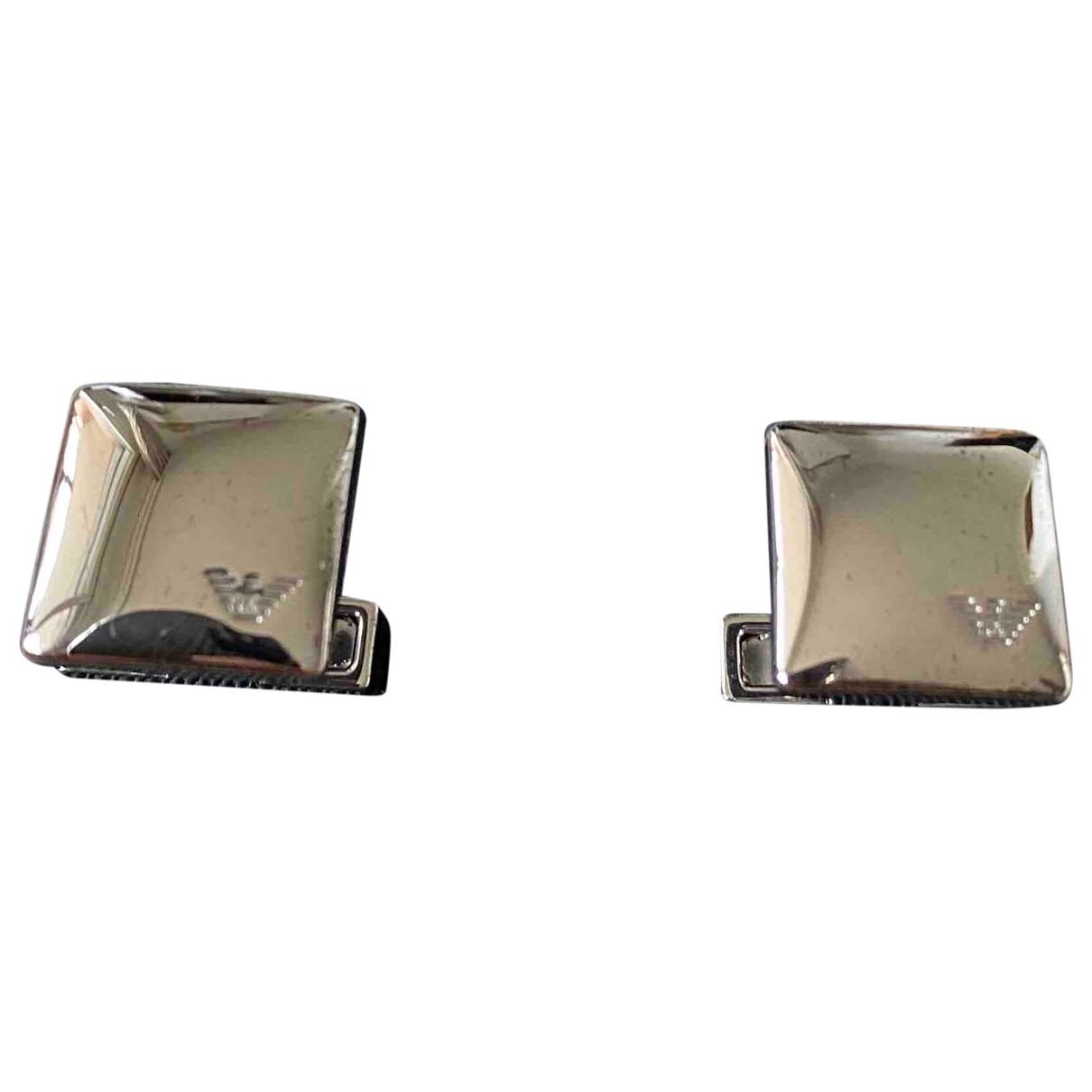 Emporio Armani \N Manschettenknopfe in  Silber Silber