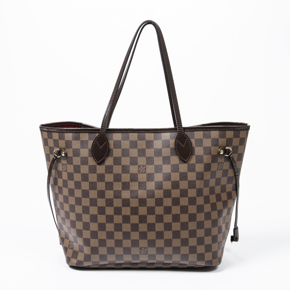 Louis Vuitton - Sac a main Neverfull pour femme en cuir - marron