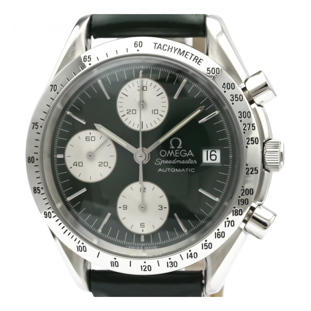 Omega Speedmaster Green Steel watch for Men \N