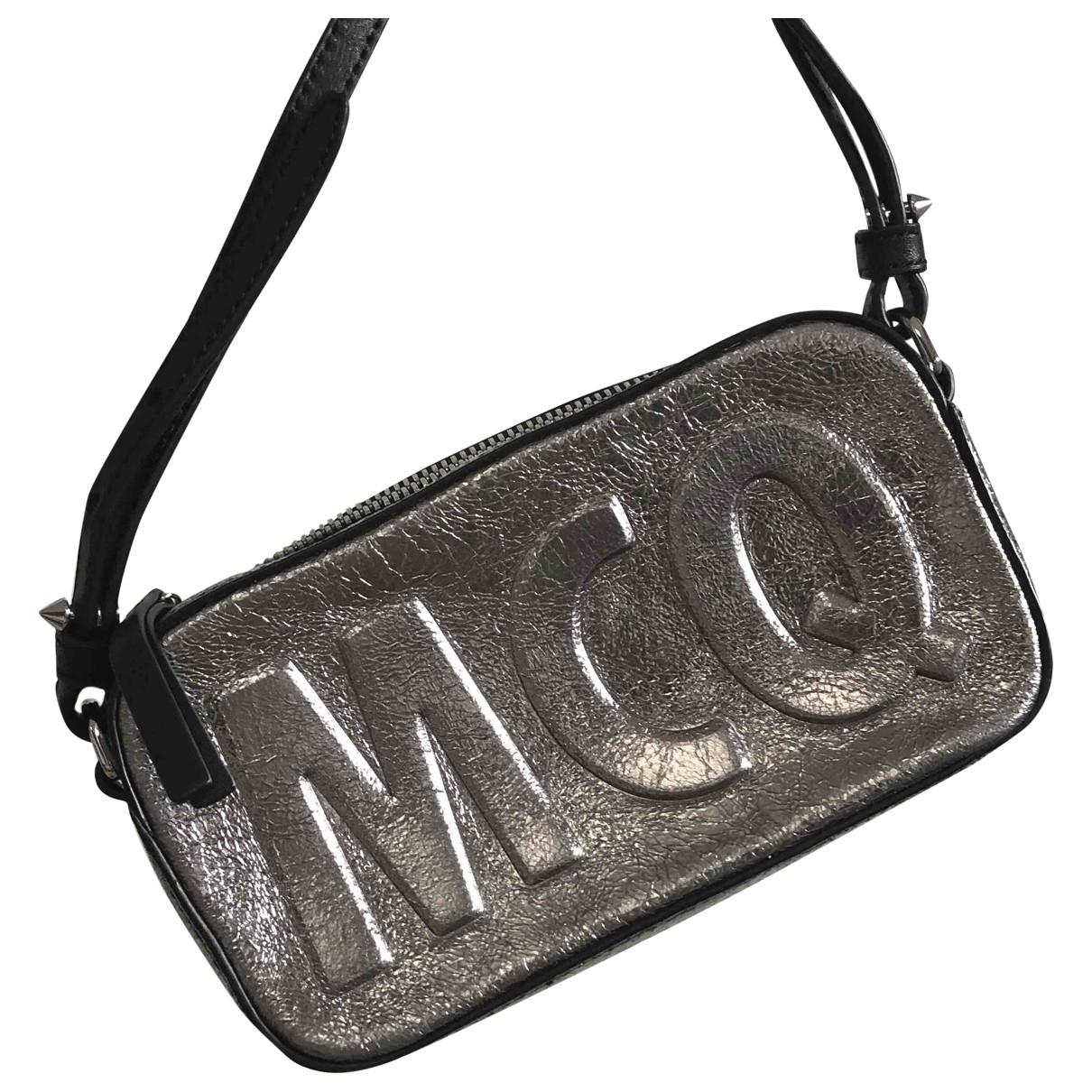 Mcq \N Clutch in  Silber Leder