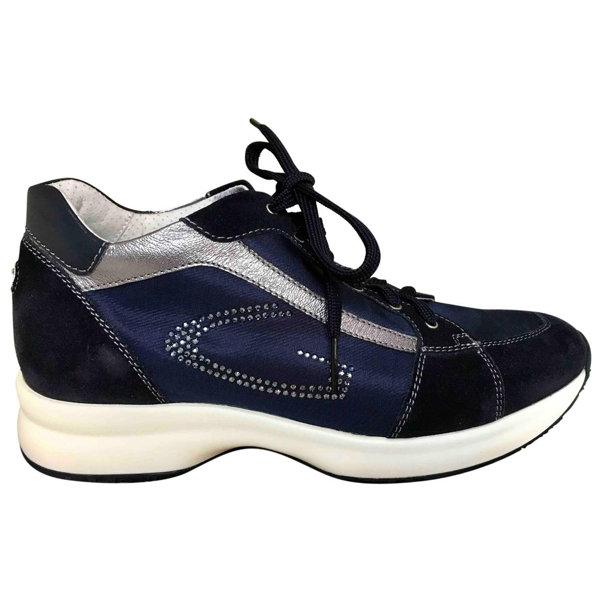 Alberto Guardiani - Baskets   pour femme en suede - bleu