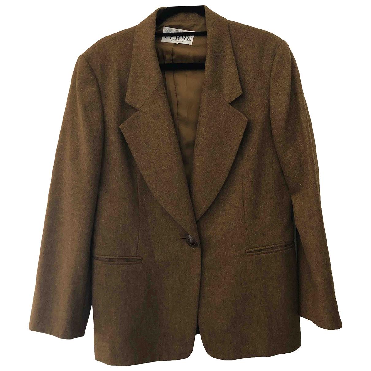 Gianfranco Ferre - Veste   pour femme en laine - beige