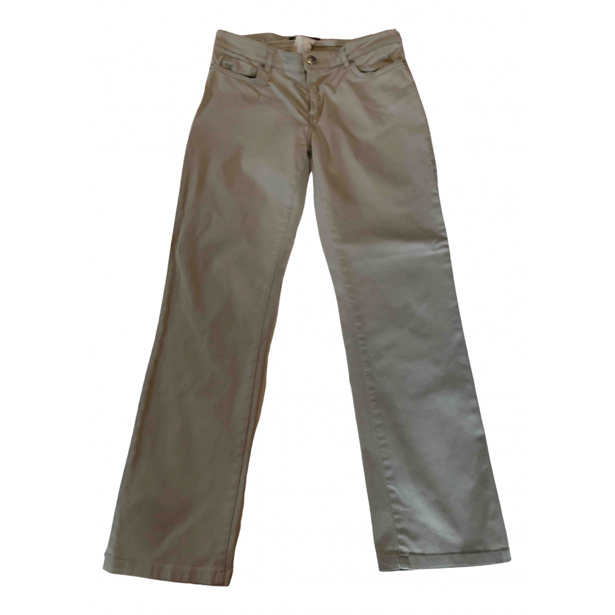 Max Mara Weekend N Beige Linen Trousers for Women 8 US