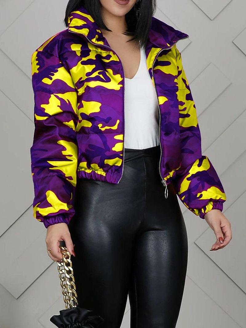 Ericdress Zipper Women's Slim Standard Cotton Padded Jacket