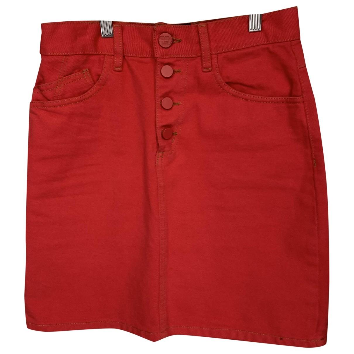 Bimba Y Lola \N Red Denim - Jeans skirt for Women 36 FR