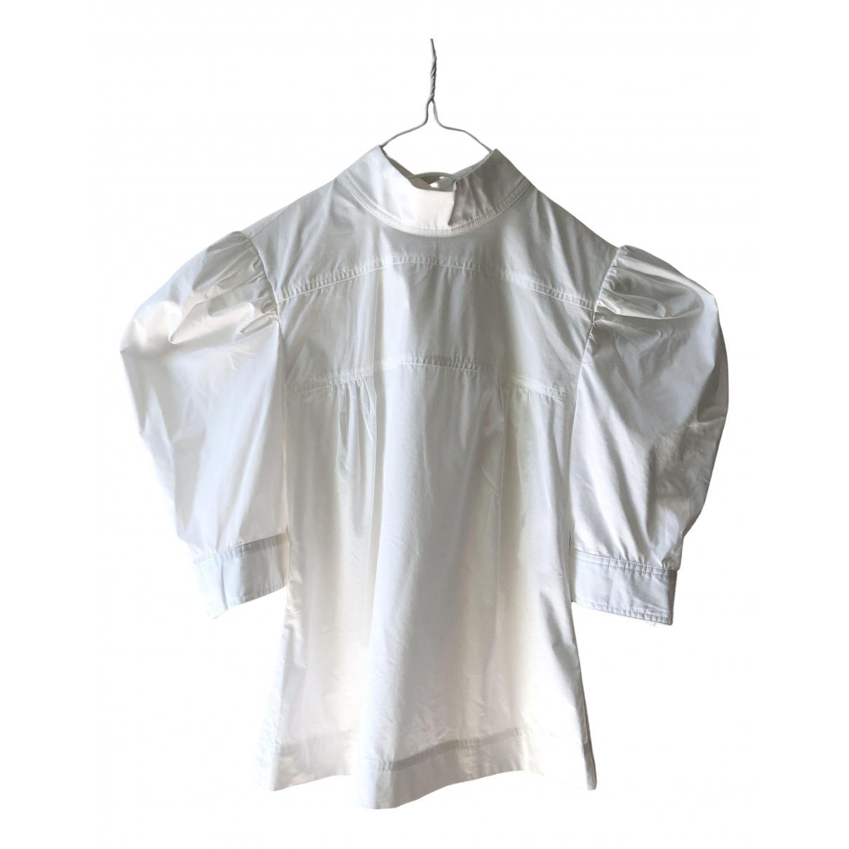 Maryam Nassir Zadeh - Top   pour femme en coton - blanc