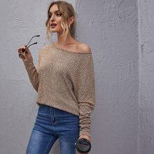 Drop Shoulder Rib-knit Top