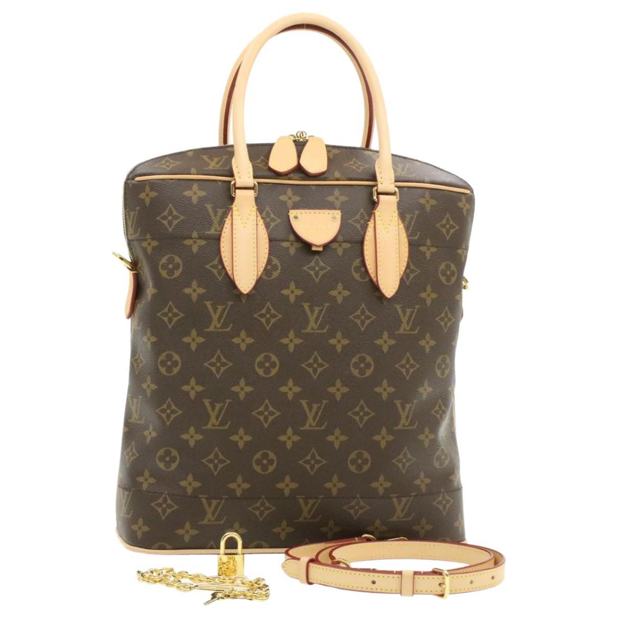 Louis Vuitton Carry All Brown Cloth handbag for Women N