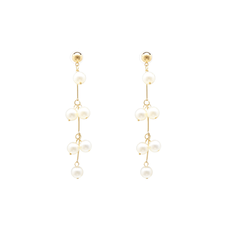 Yoins Gold Faux Pearl Decoration Dangle Earrings