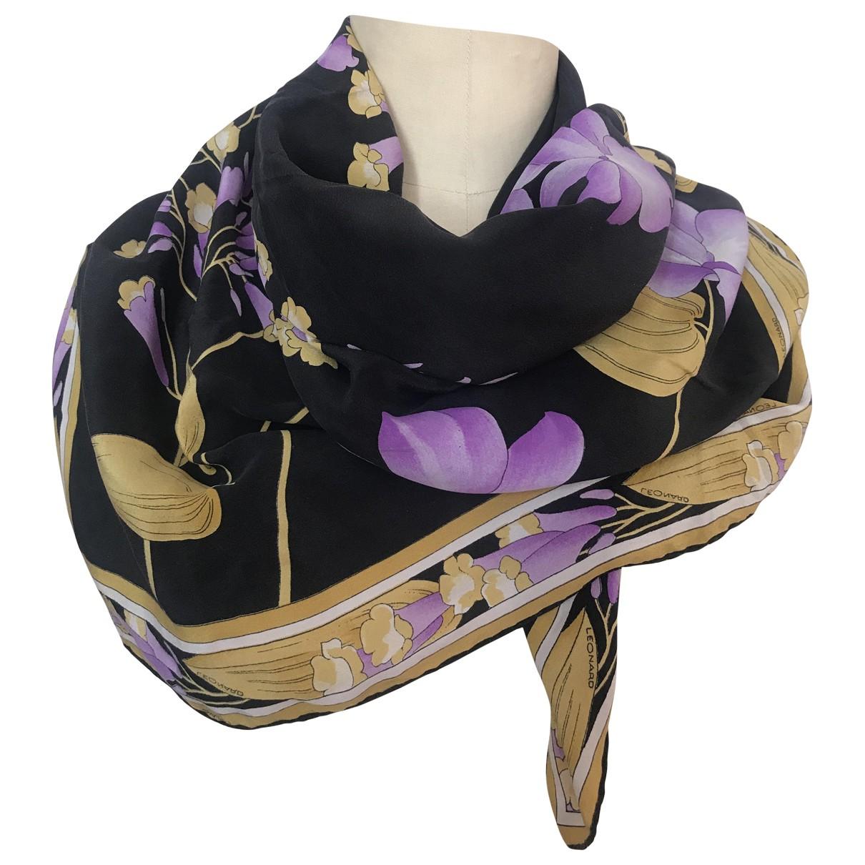 Leonard - Foulard   pour femme en soie - noir